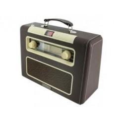 Soundmaster RCD1500 Retro Radio/Cd-Speler met Kunstlederen Behuizing