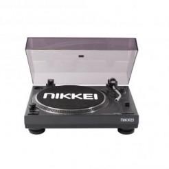 NIKKEI NTT05U Zwart Platenspeler met USB uitgang